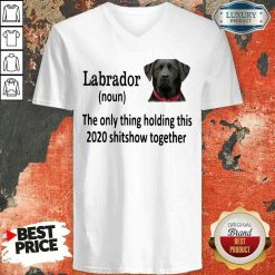 Pretty Labrador The Only Thing Making This 2020 Shitshow Together V-neck-Design By Soyatees.com