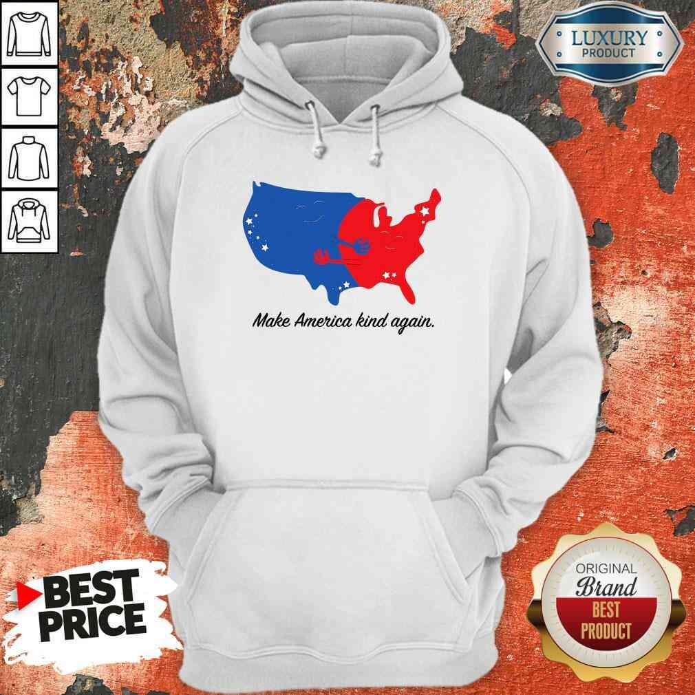 Pretty Make America Kind Again Hugging America Map Hoodie-Design By Soyatees.com