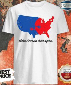 Pretty Make America Kind Again Hugging America Map Shirt-Design By Soyatees.com