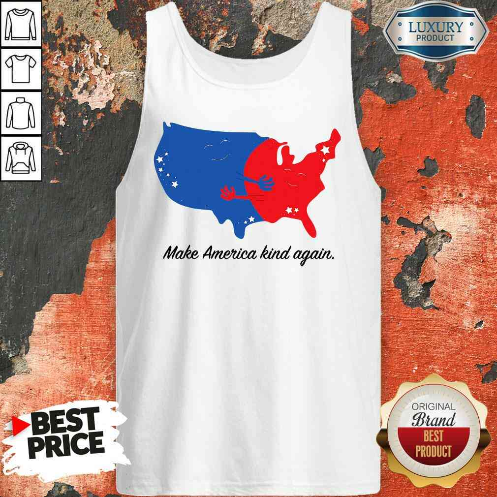Pretty Make America Kind Again Hugging America Map Tank Top-Design By Soyatees.com