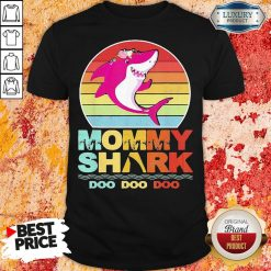 Pretty Mommy Of The Baby Shark Birthday Shirt-Design By Soyatees.com