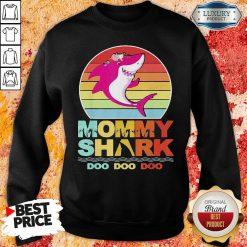 Pretty Mommy Of The Baby Shark Birthday Sweatshirt-Design By Soyatees.com