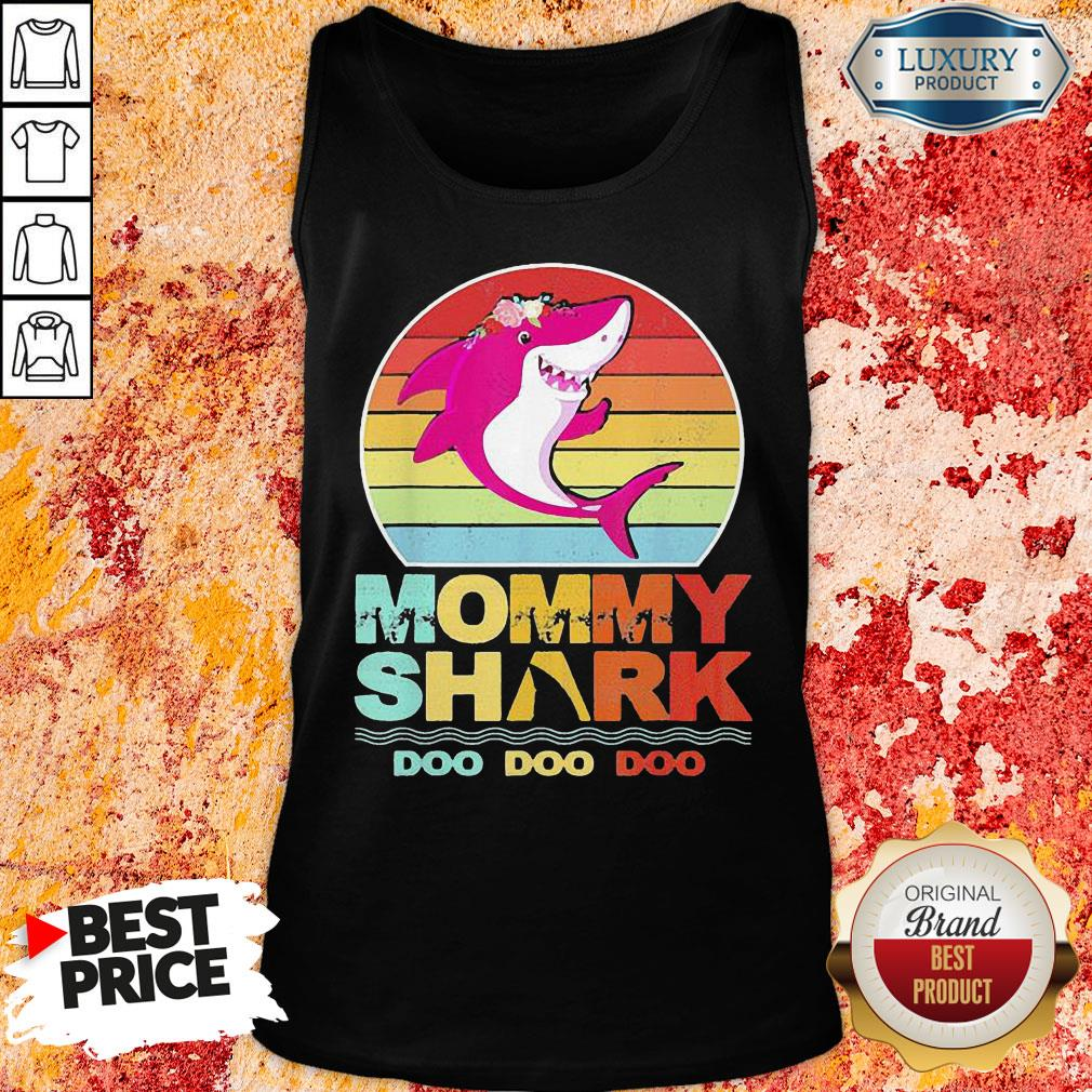 Pretty Mommy Of The Baby Shark Birthday  Tank Top-Design By Soyatees.com