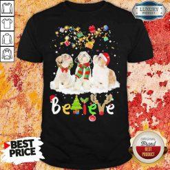 Pretty Shih Tzu Believe Christmas Shirt-Design By Soyatees.com