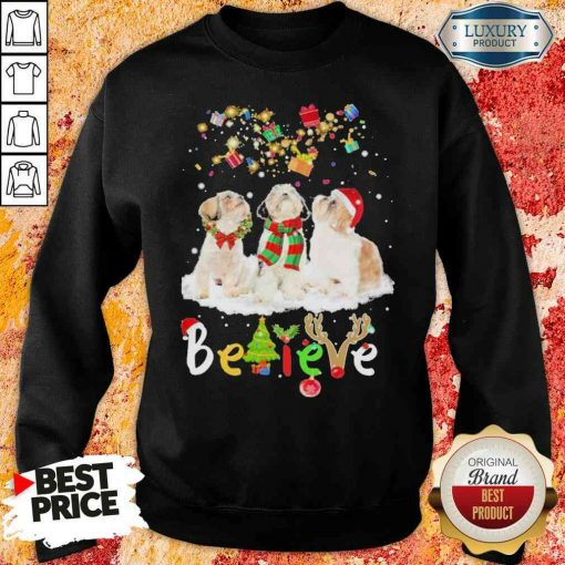 Pretty Shih Tzu Believe Christmas Sweatshirt-Design By Soyatees.com