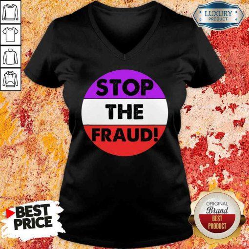 PrePretty Stop The Fraud Presidential Election 2020 V-neck-Design By Soyatees.com