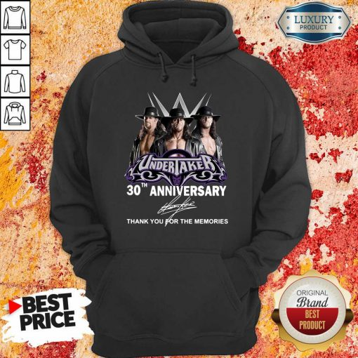 Undertaker 30Th Anniversary Signature Thank You For The Memories Hoodie-Design By Soyatees.com