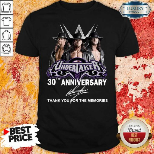 Undertaker 30Th Anniversary Signature Thank You For The Memories Shirt-Design By Soyatees.com