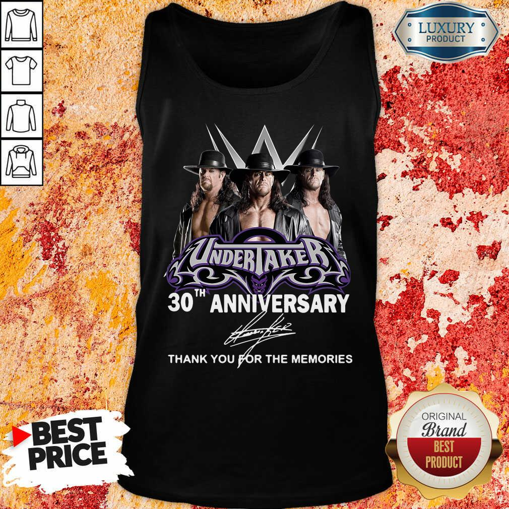 Undertaker 30Th Anniversary Signature Thank You For The Memories Tank Top-Design By Soyatees.com