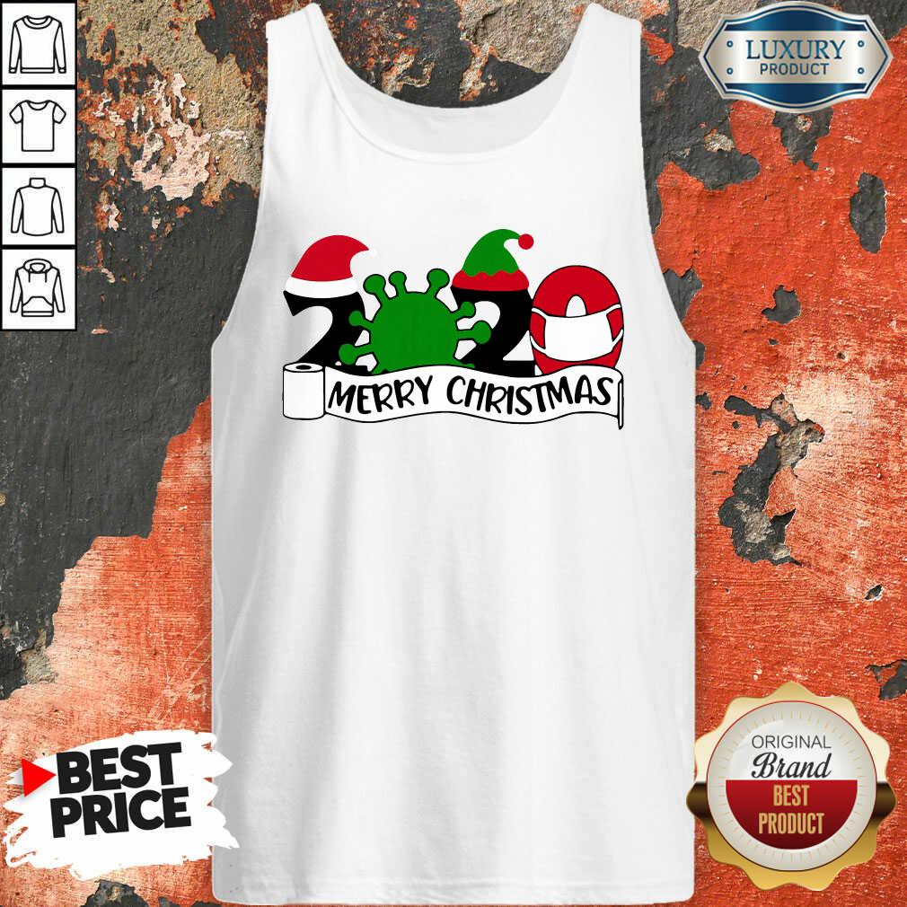 2020 Mask Quarantine Toilet Paper Merry Christmas Tank Top-Design By Soyatees.com