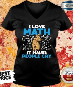 """""""Top Cat I Love Math It Makes People Cry V-neck-Design By Soyatees.com"""
