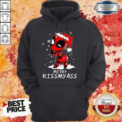 Top Deadpool Merry Kiss My Ass Hoodie-Design By Soyatees.com