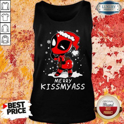 Top Deadpool Merry Kiss My Ass Tank Top-Design By Soyatees.com