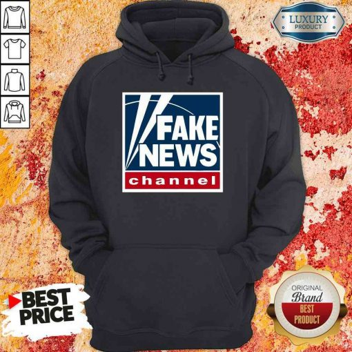 Top Fake News Channel Hoodie-Design By Soyatees.com