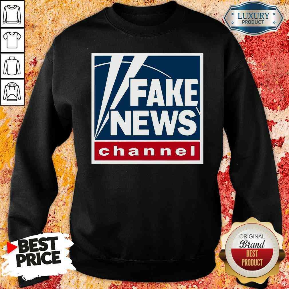 Top Fake News Channel Sweatshirt-Design By Soyatees.com