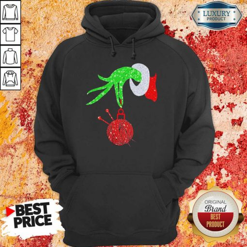 Grinch Hand Holding Crochet Merry Christmas 2020 Hoodie-Design By Soyatees.com
