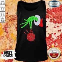 Grinch Hand Holding Crochet Merry Christmas 2020 Tank Top-Design By Soyatees.com