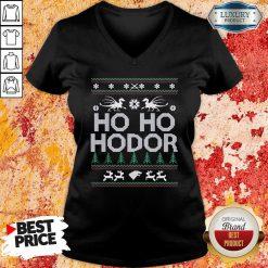Ho Ho Hodor Toothless Merry Christmas V-neck-Design By Soyatees.com