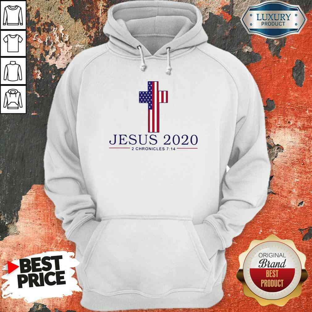 Top Jesus 2020 2 Chronicles American Flag  Hoodie-Design By Soyatees.com