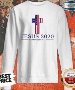 Top Jesus 2020 2 Chronicles American Flag Sweatshirt-Design By Soyatees.com