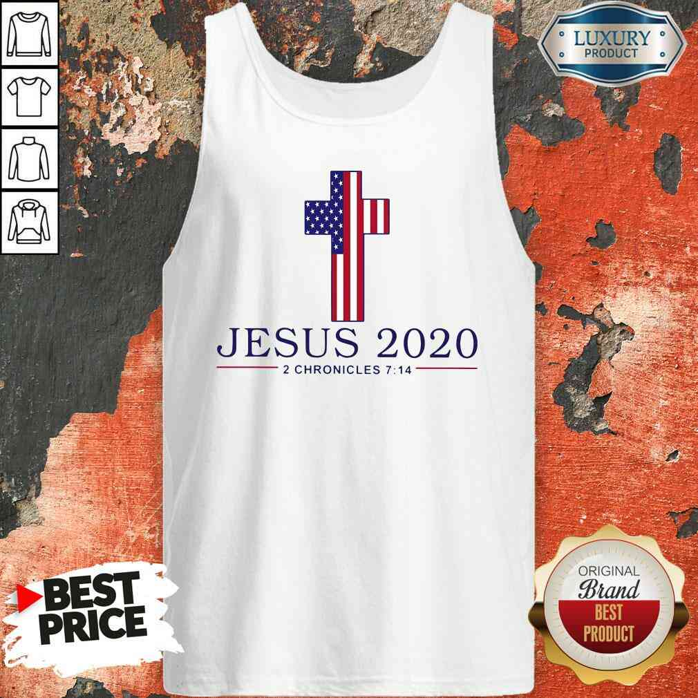 Top Jesus 2020 2 Chronicles American Flag  Tank Top-Design By Soyatees.com