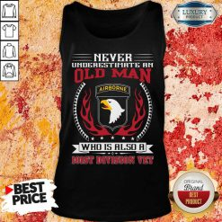 Never Underestimate An Old Man Who Is Also A 101St Division Vet Tank Top-Design By Soyatees.com