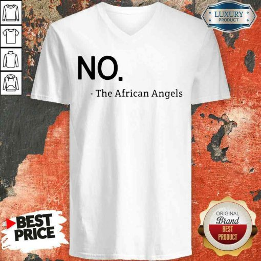 Top No The African Angels V-neck-Design By Soyatees.com