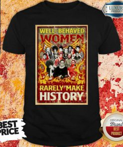 "Ruth Bader Ginsburg Well Behaved Women Rarely Make History Shirt ""-Design By Soyatees.com"