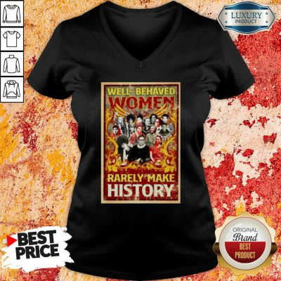 Ruth Bader Ginsburg Well Behaved Women Rarely Make History V-neck-Design By Soyatees.com