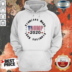 Trump 2020 Promises Made Promises Kept Hoodie-Design By Soyatees.com
