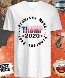 Trump 2020 Promises Made Promises Kept V-neck-Design By Soyatees.com