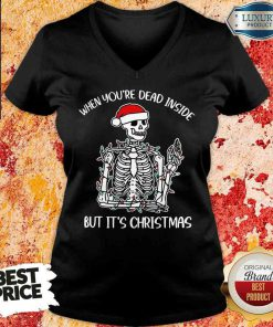 Top When You'Re Dead Inside But It'S Christmas V-neck-Design By Soyatees.com