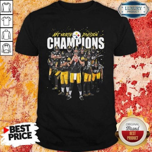 Pittsburgh Steelers Team Football Afc North Division Champions Signatures Shirt - Desisn By Soyatees.com