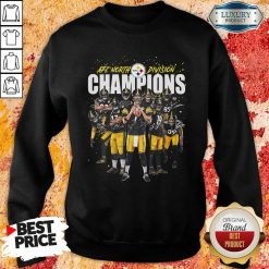 Pittsburgh Steelers Team Football Afc North Division Champions Signatures Sweatshirt - Desisn By Soyatees.com