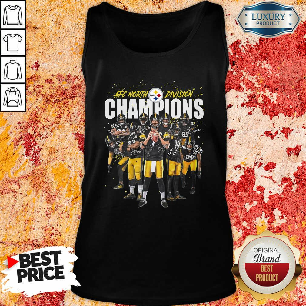 Pittsburgh Steelers Team Football Afc North Division Champions Signatures Tank Top - Desisn By Soyatees.com