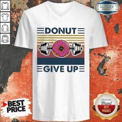 Don'T Give Up Vintage V-neck-Design By Soyatees.com