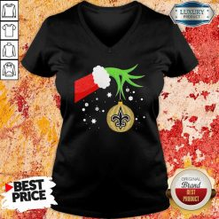 Grinch Christmas Ornament Seattle Seahawks V-neck-Design By Soyatees.com