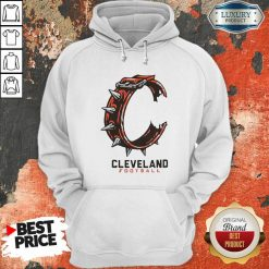 Logo Cleveland Football Hoodie-Design By Soyatees.com