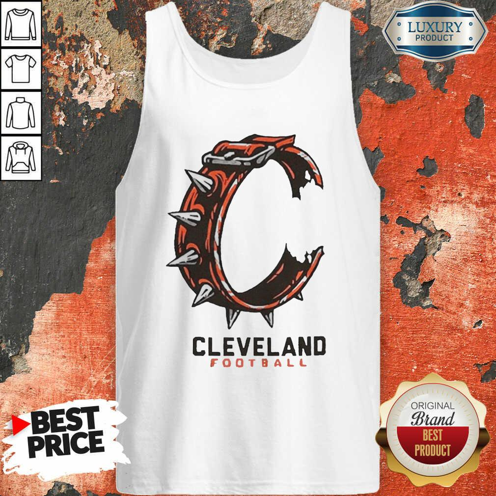 Logo Cleveland Football Tank Top-Design By Soyatees.com