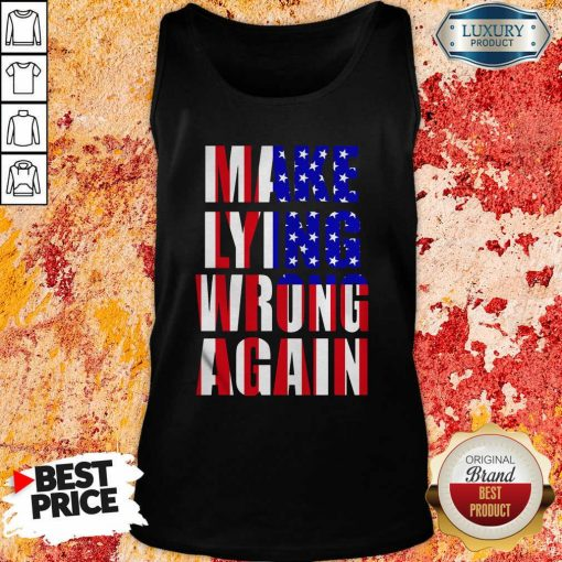 Make Lying Wrong Again American Flag Tank Top-Design By Soyatees.com