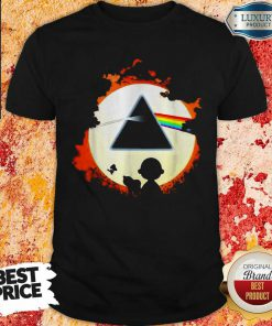 Snoopy And Friends Watch The Moon Pink Floyd Shirt-Design By Soyatees.com