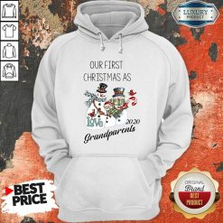 Snowman Our First Christmas Love 2020 Grandparents Hoodie-Design By Soyatees.com