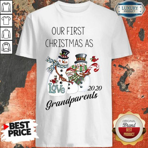 Snowman Our First Christmas Love 2020 Grandparents Shirt-Design By Soyatees.com