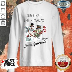 Snowman Our First Christmas Love 2020 Grandparents Sweatshirt-Design By Soyatees.com