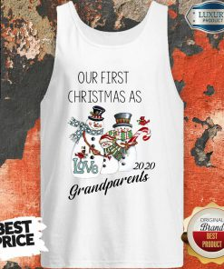 Snowman Our First Christmas Love 2020 Grandparents Tank Top-Design By Soyatees.com