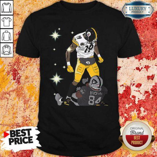 Pittsburgh Steelers JuJu Smith And Oakland Raiders Antonio Brown Shirt - Desisn By Soyatees.com