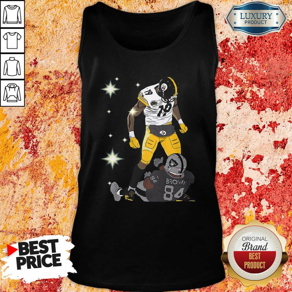 Pittsburgh Steelers JuJu Smith And Oakland Raiders Antonio Brown Tank Top - Desisn By Soyatees.com