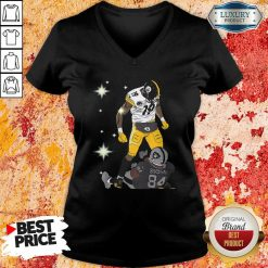 Pittsburgh Steelers JuJu Smith And Oakland Raiders Antonio Brown V-neck - Desisn By Soyatees.com
