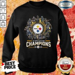 Pittsburgh Steelers Team Football 2020 Afc North Division Signatures Sweatshirt - Desisn By Soyatees.com