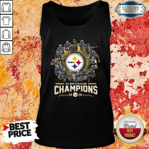 Pittsburgh Steelers Team Football 2020 Afc North Division Signatures Tank Top - Desisn By Soyatees.com